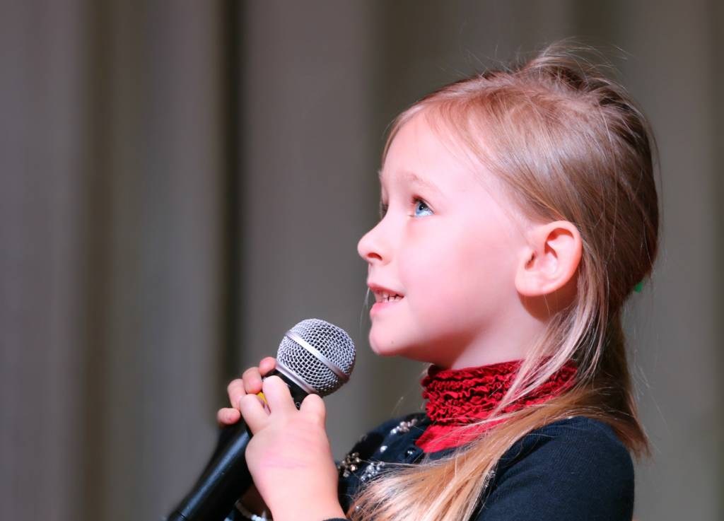 Young Singer Performing Tampa Music School